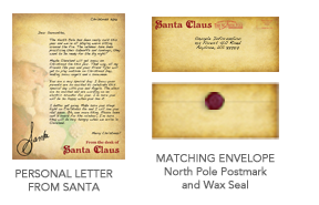 Santasentmealetter our basic package featuring a 100 personal letter from santa at the north pole choose from up to 15 different customizable templates to personalize spiritdancerdesigns Gallery
